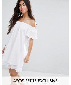 ASOS PETITE | Платье Мини С Открытыми Плечами И Кружевным Краем