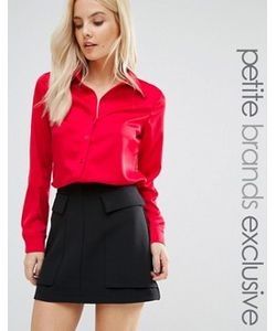 Fashion Union Petite   Сатиновая Рубашка