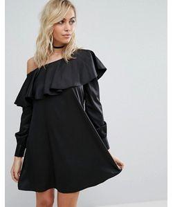 Fashion Union | Платье-Рубашка На Одно Плечо