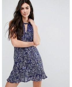 Greylin | Шелковое Платье С Оборками На Кромке Jenna