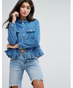 Daisy Street   Джинсовая Куртка-Рубашка С Баской