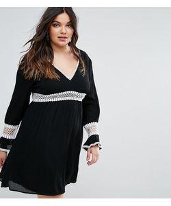 Missguided Plus | Короткое Приталенное Платье С Кружевными Вставками