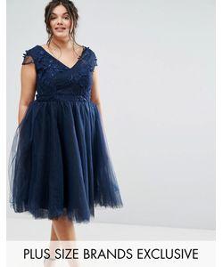 Chi Chi Plus | Платье С Цветочной Аппликацией И Юбкой Из Тюля Chi Chi London