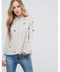 Only | Рубашка В Полоску С Принтом Китов Zafran