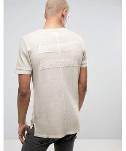 BLACK KAVIAR | T-Shirt In Stone Overdye