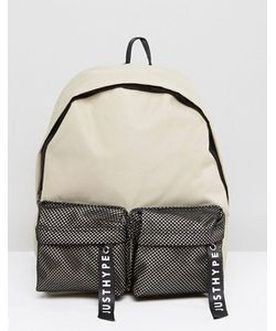 HYPE | Sand Mesh Double Pocket Backpack