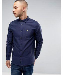 Lyle&Scott | Темно-Синяя Оксфордская Рубашка На Пуговицах С Логотипом-Орлом
