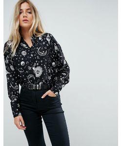 Asos | Укороченная Рубашка С Принтом