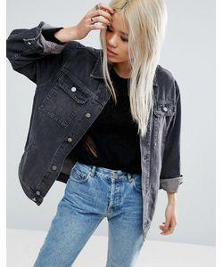 Asos | Черная Джинсовая Выбеленная Куртка