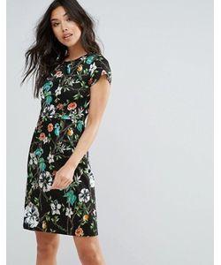 Yumi | Цельнокройное Платье С Цветочным Принтом