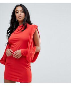 ASOS PETITE   Облегающее Платье С Открытыми Плечами И Драпировкой