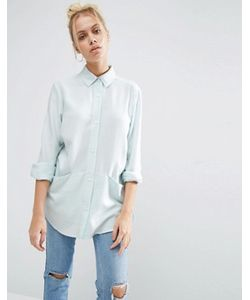 Asos | Свободная Саржевая Рубашка