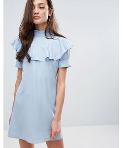 Fashion Union | Цельнокройное Платье С Оборками Спереди