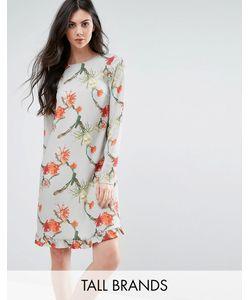 Y.A.S Tall   Платье С Кактусами И Оборкой