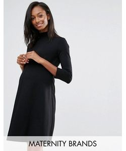 Isabella Oliver | Короткое Приталенное Платье С Отворачивающимся Воротом