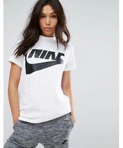 Nike | Удлиненный Топ С Высокой Горловиной