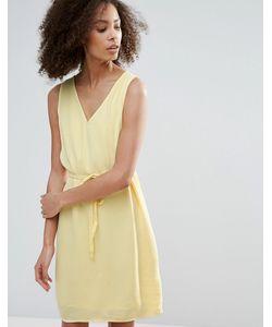 Vila | Платье С Поясом-Шнурком