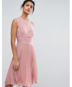 Elise Ryan | Плиссированное Платье Миди