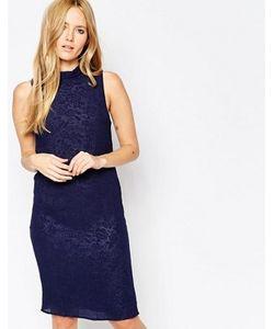 Minimum | Темно-Синее Фактурное Платье Миди Gittah