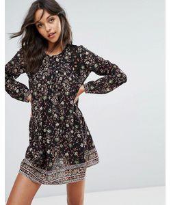 Ba&Sh | Платье Мини С Цветочным Принтом И Вырезами