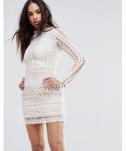 MISSGUIDED | Кружевное Облегающее Платье Мини