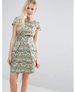 Closet London   Платье-Тюльпан С Принтом Closet