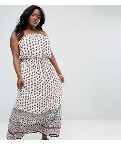 Diya | Платье Макси Бандо С Принтом