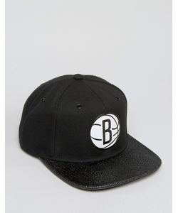 Mitchell & Ness | Ultimate Snapback Cap Brooklyn Nets With Textured Leather