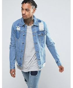 Always Rare | Badges Denim Jacket Mid Wash
