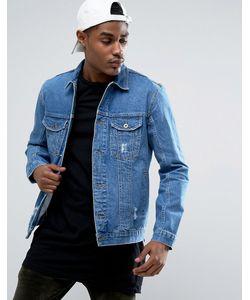 Kubban | Выбеленная Джинсовая Куртка С Потертостями И Молниями По Бокам
