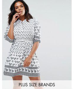 Yumi Plus | Платье С Принтом И Ремнем