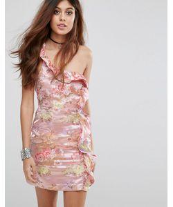 Glamorous | Платье На Одно Плечо С Цветочным Узором
