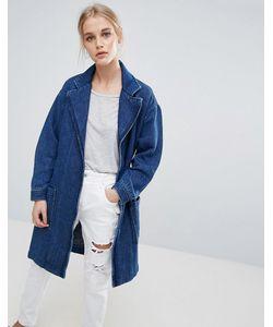 Pepe Jeans London   Джинсовая Куртка-Кимоно С Запахом Kimmie