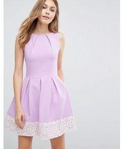 Closet London | Приталенное Платье С Кружевным Подолом Closet