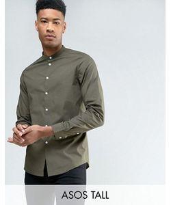 Asos | Рубашка Классического Кроя С Воротником На Пуговице Tall