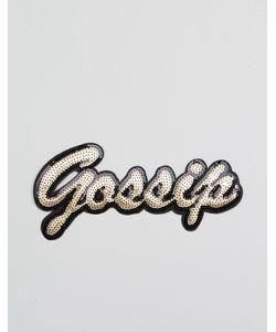 DesignB London   Термонашивка С Пайетками Gossip
