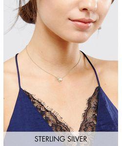 Asos | Ожерелье Из Позолоченного Серебра С Подвеской Козерог