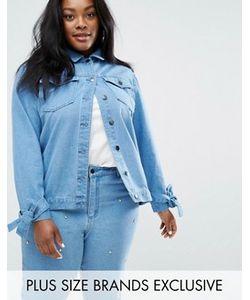 Daisy Street Plus | Джинсовая Куртка С Бантами На Рукавах И Отделкой На Спине Daisy