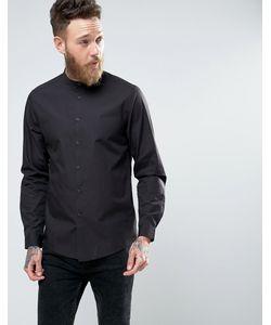 Asos | Черная Рубашка Классического Кроя С Воротником На Пуговице