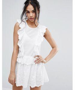 MISSGUIDED | Кружевное Платье Мини С Оборками