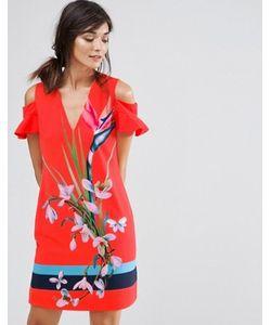 Ted Baker | Платье С Вырезами И Тропическим Принтом Leea