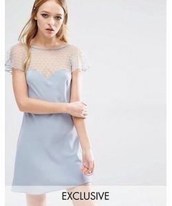 Reclaimed Vintage | Платье С Полупрозрачной Вставкой