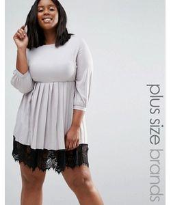 Praslin | Платье С Плиссированной Юбкой И Кружевной Кромкой Plus