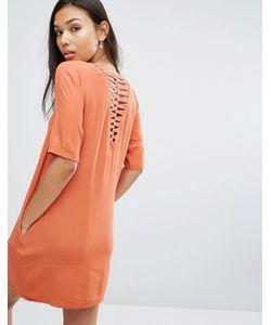 See U Soon | Lattice Back T-Shirt Dress