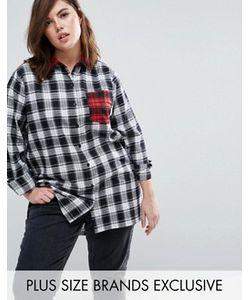 Daisy Street Plus | Рубашка В Контрастную Клетку