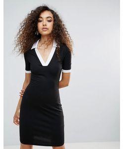 Unique 21 | Спортивное Платье С Контрастной Отделкой