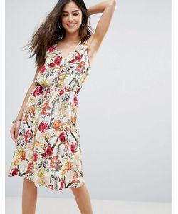Soaked In Luxury | Короткое Притпленное Платье С Цветочными Вставками