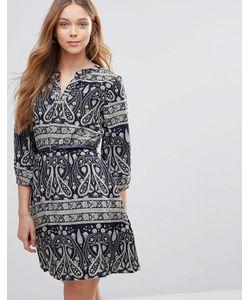 Yumi | Платье С Поясом И Принтом Пейсли