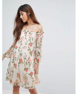 Vero Moda | Платье С Открытыми Плечами И Цветочным Принтом