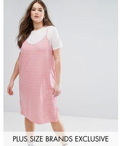 Daisy Street Plus | Платье В Клеточку 2 В 1 С Полупрозрачным Верхом Daisy Street
